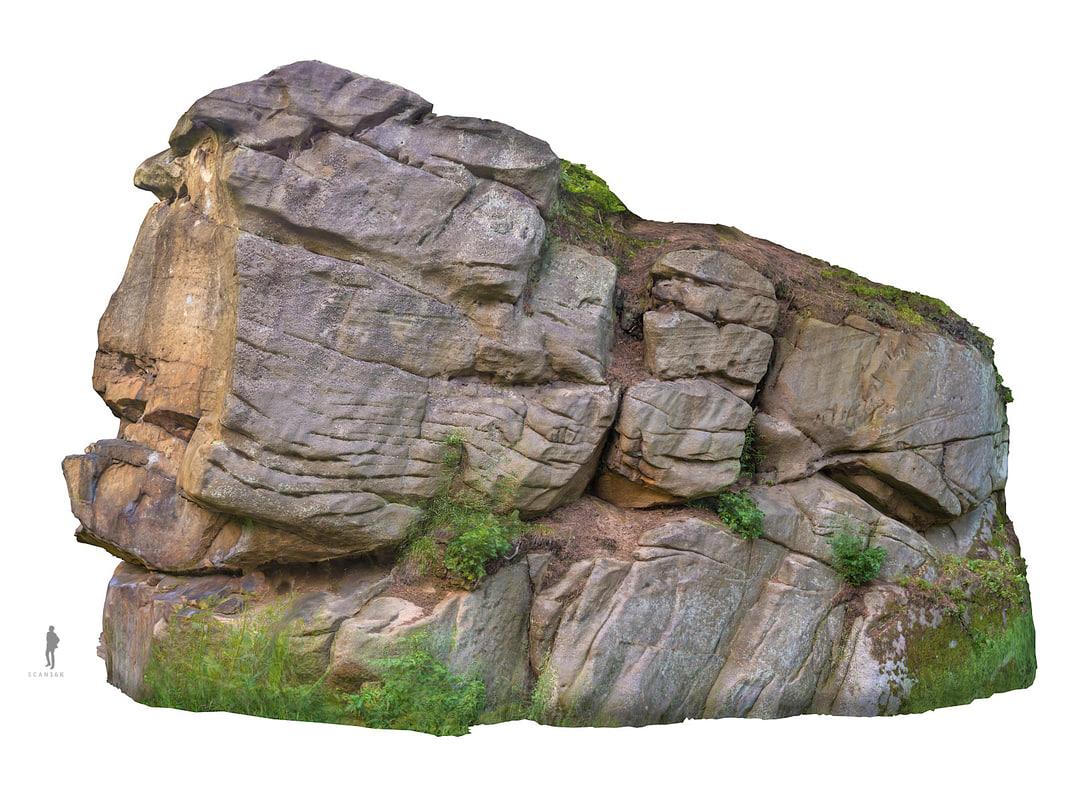 stone boulders scanned 3d model on Granite Models  id=15157