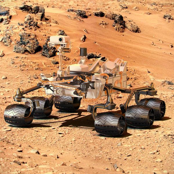 nasa mars rover curiosity 3d model