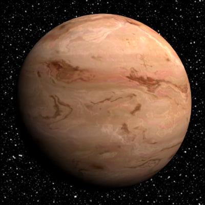 10 gas giants planets 3d model