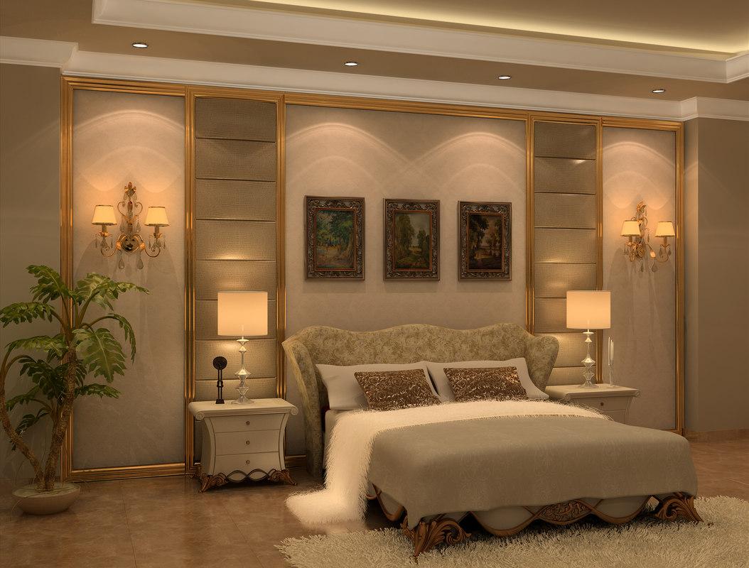 neo classic bedroom design 3d model on Model Bedroom Interior Design  id=16919