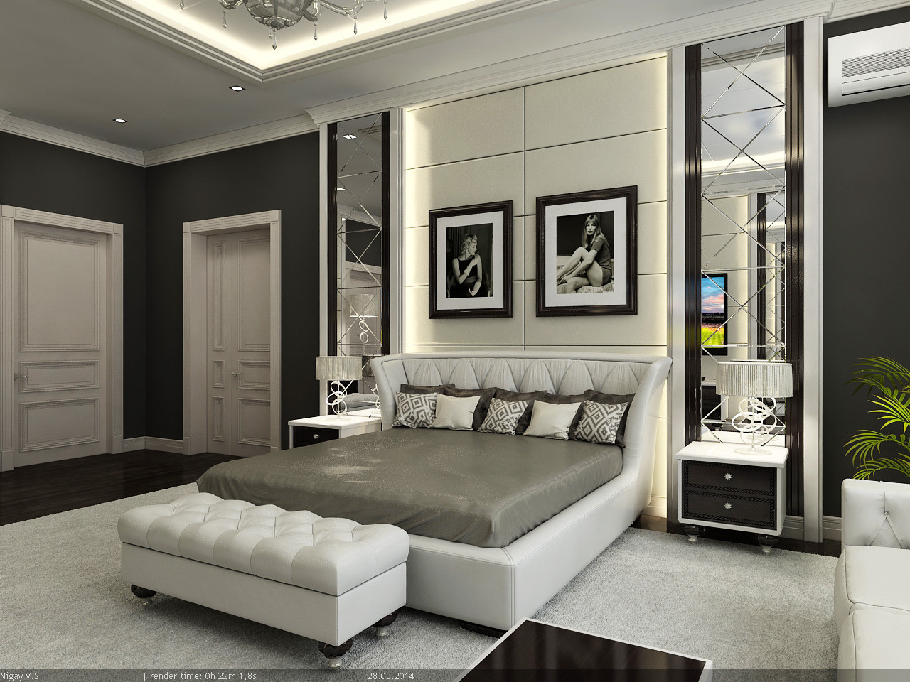 interior master bedroom 3d model on Model Bedroom Ideas  id=41389