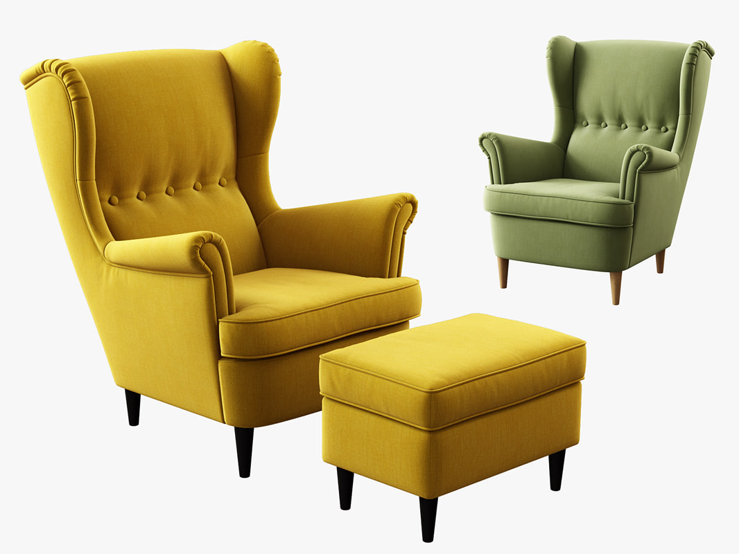 Sofa cover for ikea farlov armchair sofa,ikea slipcover,farlov cover,custom. 3d model ikea strandmon wing chair ottoman