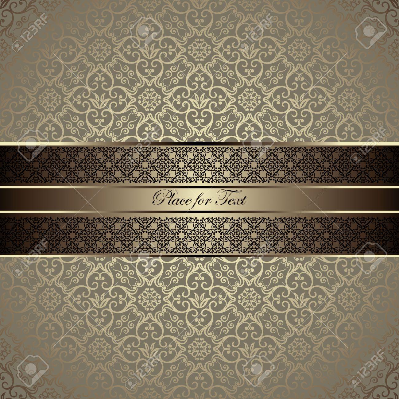 Con la giusta carta da parati, le vostre mura diventeranno accoglienti, accattivanti e di stile. Vettoriale Scheda Dell Annata Con Un Bordo Su Carta Da Parati Damascata Senza Soluzione Di Continuita Image 30995381