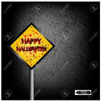 halloween sign board