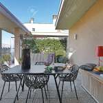 Iron Table And Chairs On The Modern Terrace Stock Photo Picture And Royalty Free Image Image 52487656