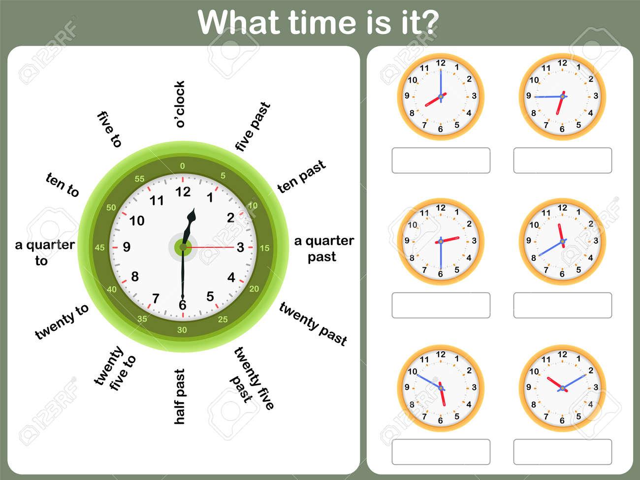 Tell G Time W Ksheet Write Time Shown Clock Roy Lty