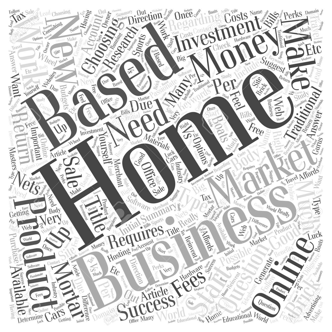 How to work from home and make money online word cloud concept