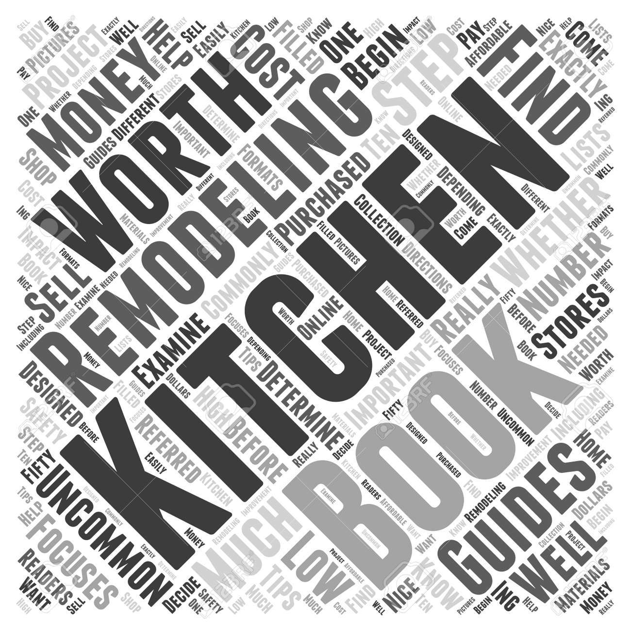 kitchen remodeling books worth the money word cloud concept royalty