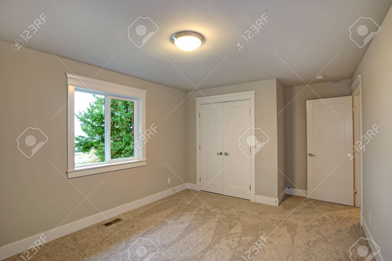 New Construction Home Interior Features Empty Room With Beige Stock Photo Picture And Royalty Free Image Image 89129133