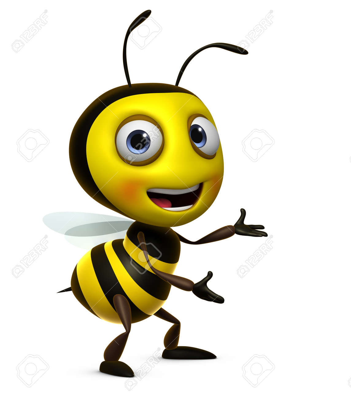 3d Cute Honey Bee Stock Photo Picture And Royalty Free Image Image 15612026
