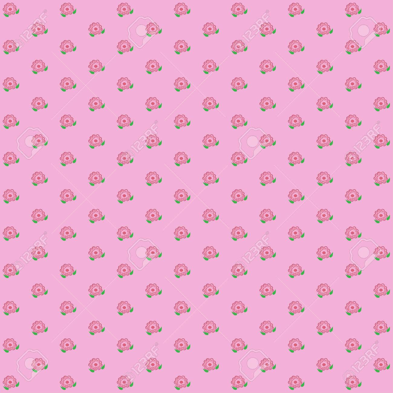 classique motif fleur vintage fond d ecran sur fond rose