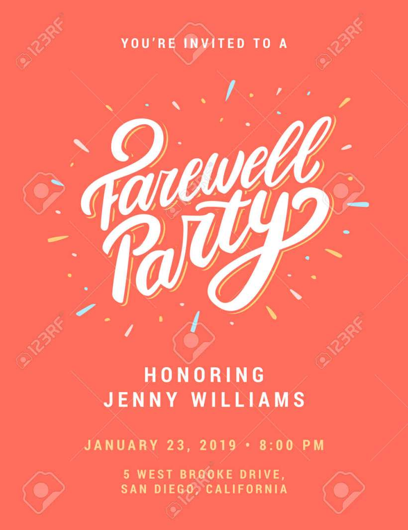 Farewell Party Invitation Stock Vector 101677673
