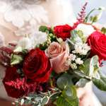 Beautiful Bridal Bouquet Is A Color Red Pink And White Autumn Stock Photo Picture And Royalty Free Image Image 97625463