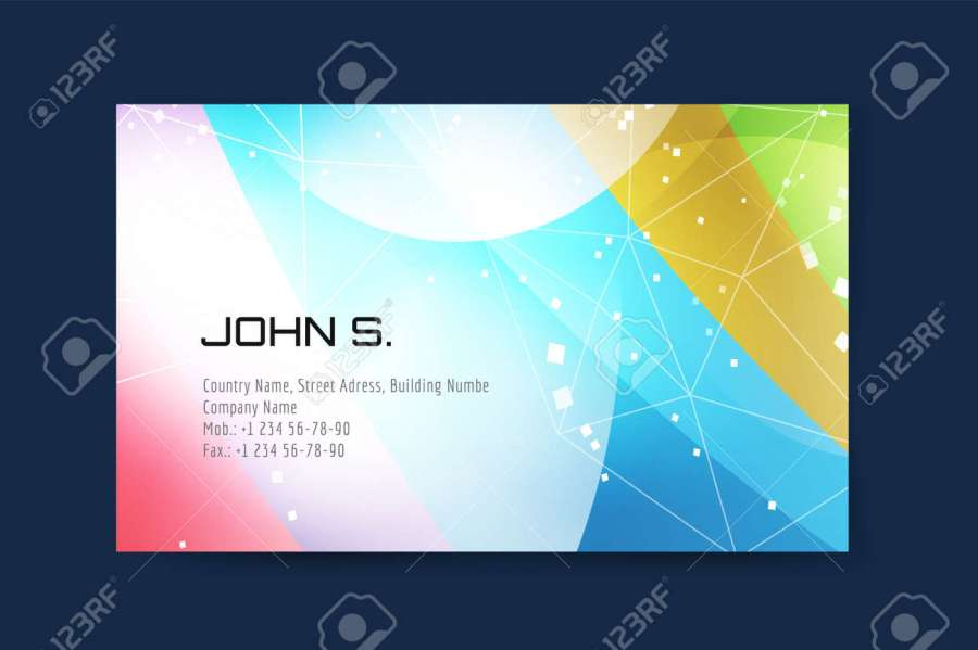Business Card Template  Abstract Triangle Design And Creative     Abstract triangle design and creative idea  blank  paper print