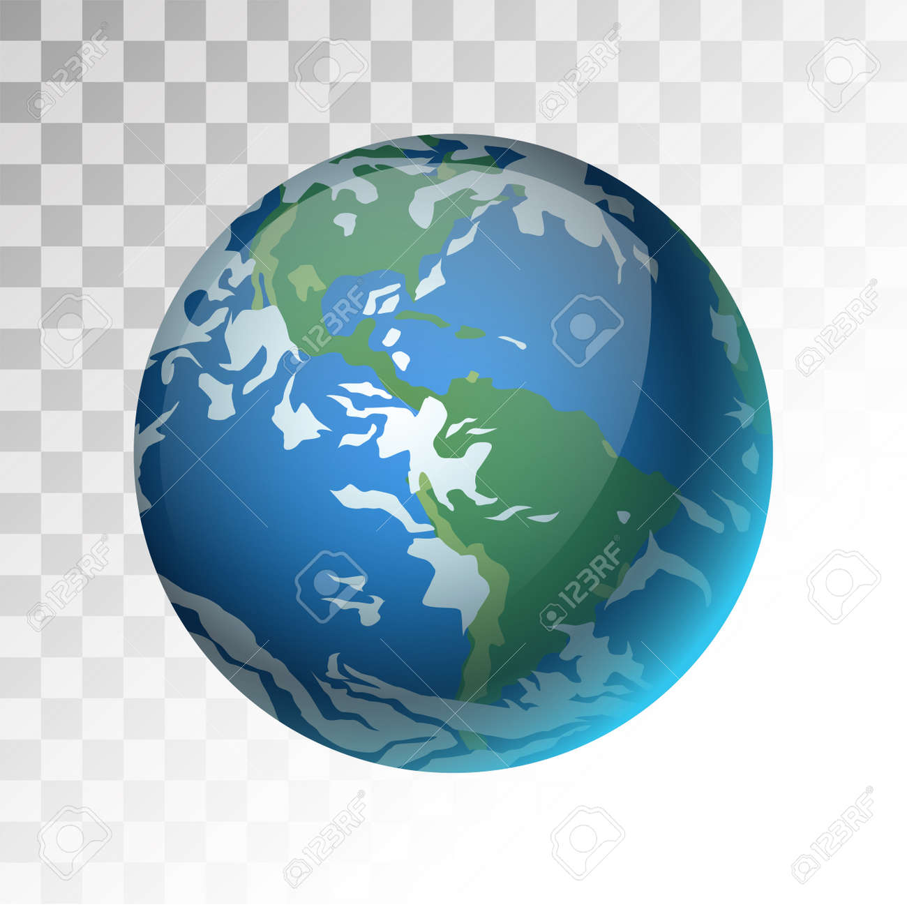 Earth Planet 3d Vector Illustration  Globe Earth Texture Map     Earth planet 3d vector illustration  Globe Earth texture map  Globe vector  Earth view from