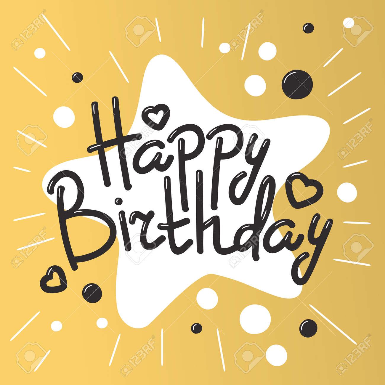 cartes d invitation belle anniversaire design fond d anniversaire de couleurs bandes de decoration de carte de voeux de vecteur lettrage texte de