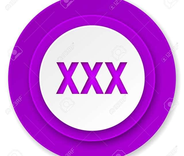 Xxx Icon Violet Button Porn Sign Stock Photo 33767864