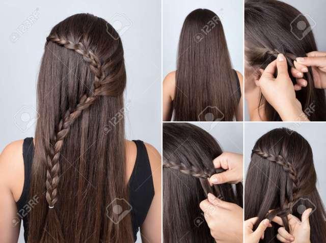 hairdo cascade braid, hair tutorial. hairstyle for long hair