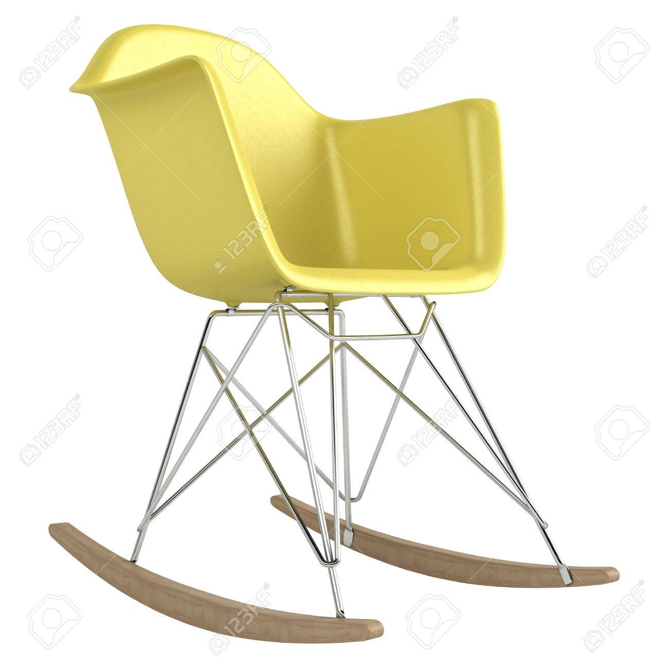 Innovative Rocking Chair Design With A Modular Seat Metal Frame