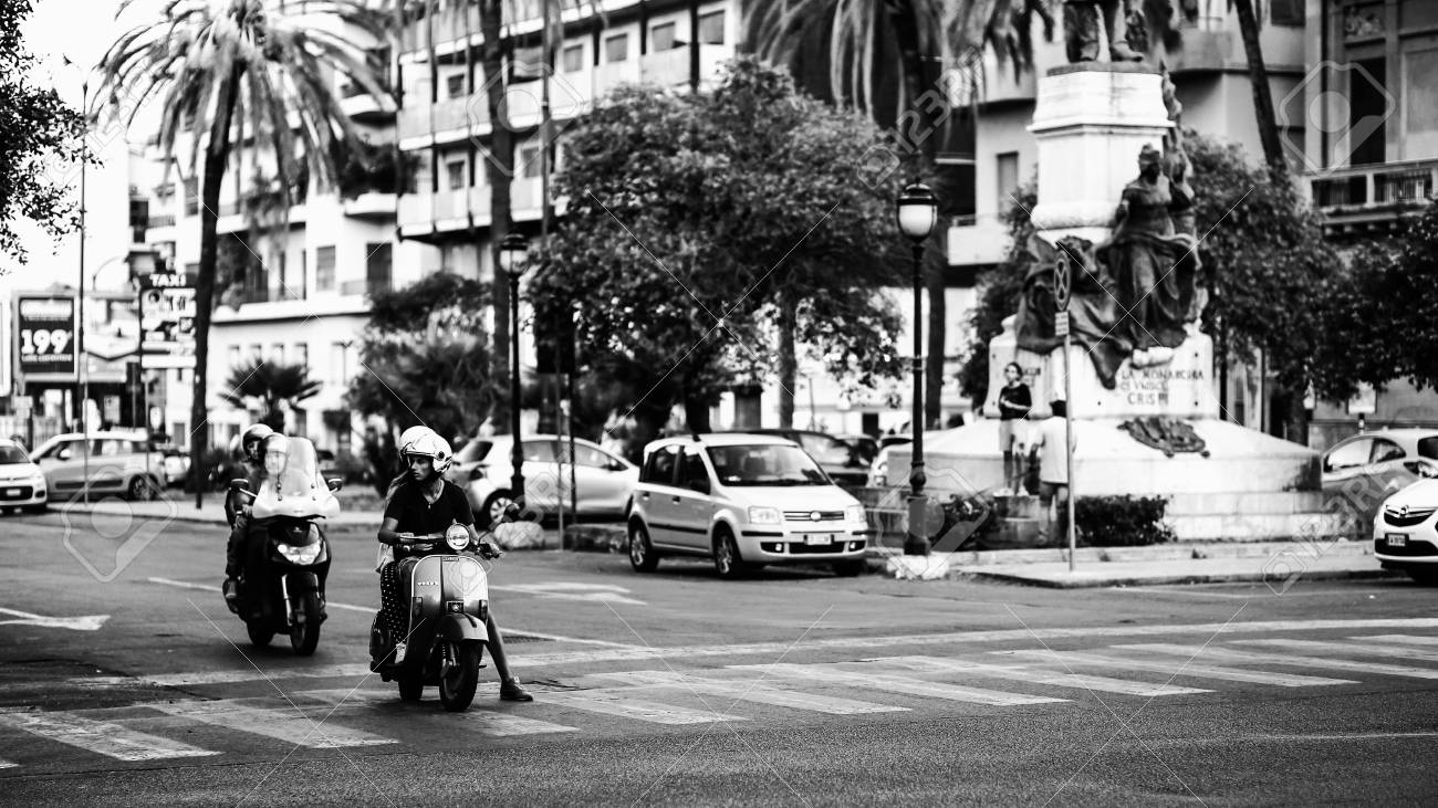 palermo italy september 17 2015 black and white vintage picture