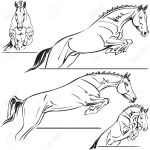 Jumping Horses For Trailer Design Royalty Free Cliparts Vectors And Stock Illustration Image 32505939