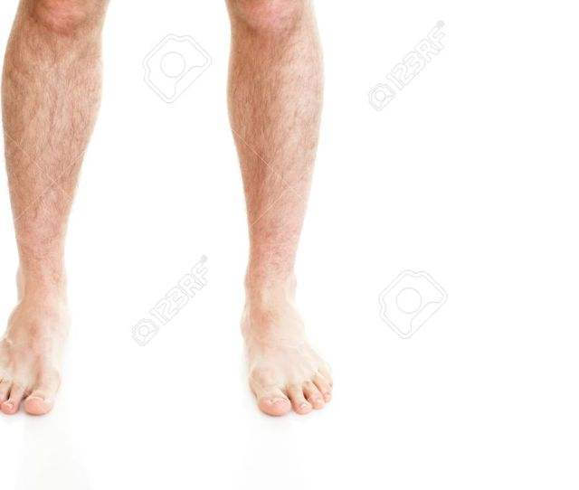 Male Hairy Legs Isolated On White Background Stock Photo 13186812
