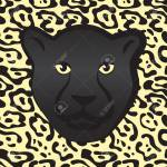 Black Jaguar Face Or Predatory Panther Muzzle With Fur Texture Royalty Free Cliparts Vectors And Stock Illustration Image 119963186