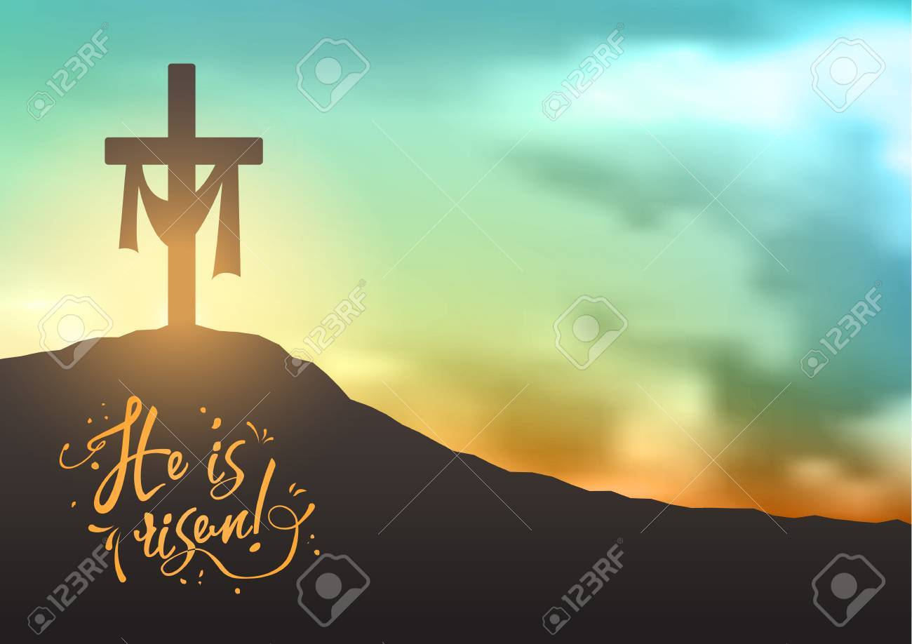 Christian Easter Scene Saviours Cross On Dramatic Sunrise Scene Royalty Free Cliparts Vectors And Stock Illustration Image 74303254