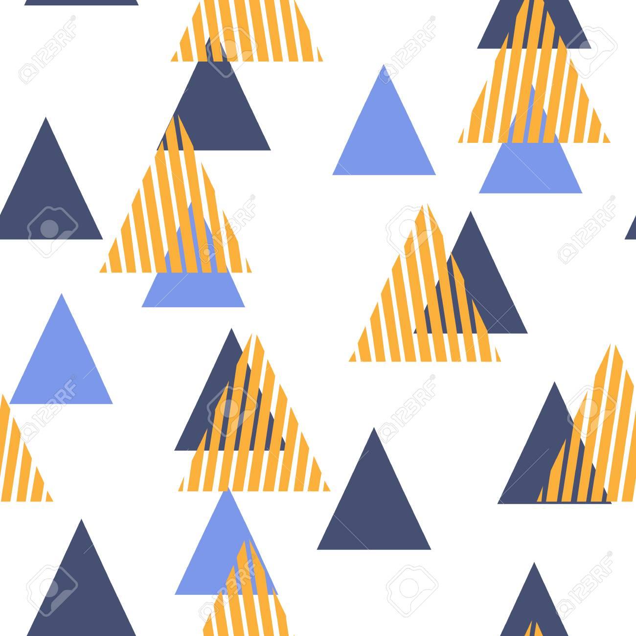 motif geometrique abstrait avec les triangles style plat scandinave pour l impression sur les vetements pour hommes et femmes papier tissu