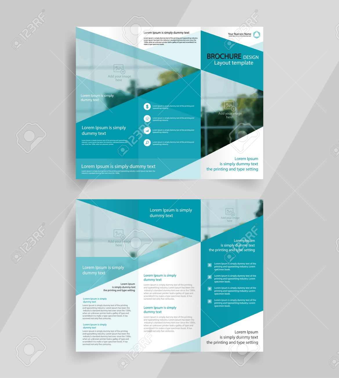 Business Tri fold Brochure Layout Design  vector A4 Brochure     business tri fold brochure layout design  vector a4 brochure template Stock  Vector   67463161
