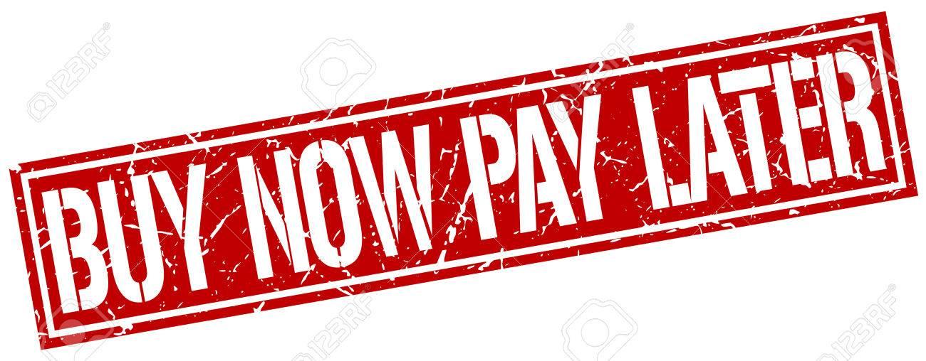 acheter maintenant payer plus tard grunge carre timbre banque d images 64210114