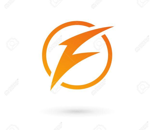 Letter F Lightning Logo Icon Design Template Elements Stock Vector 32592895