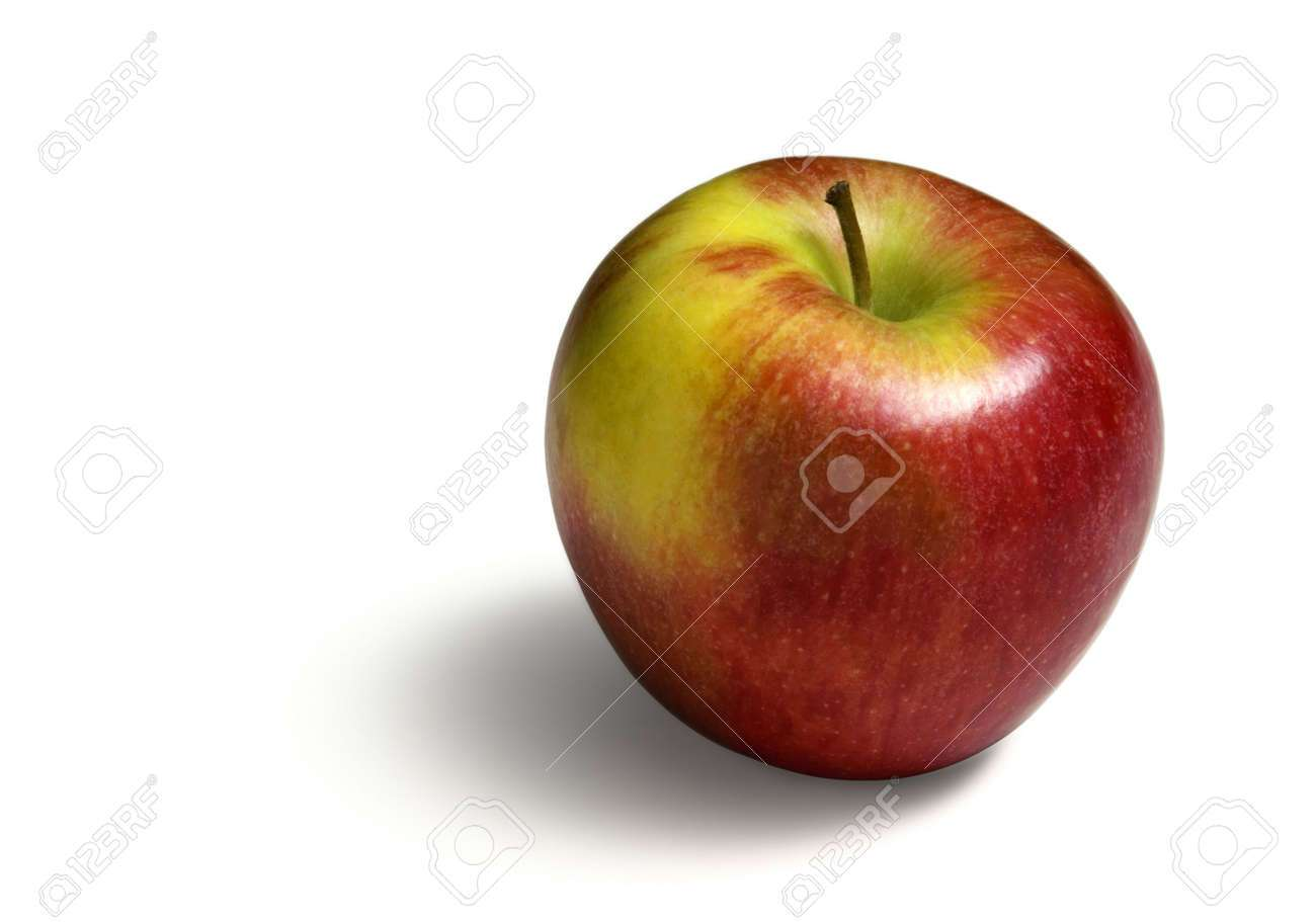 colorful apple. a pinata apple isolated on a white background. stock