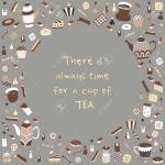 Tea Time Vector Illustration Hand Drawn Retro Design Cute Cafe Royalty Free Cliparts Vectors And Stock Illustration Image 64721557