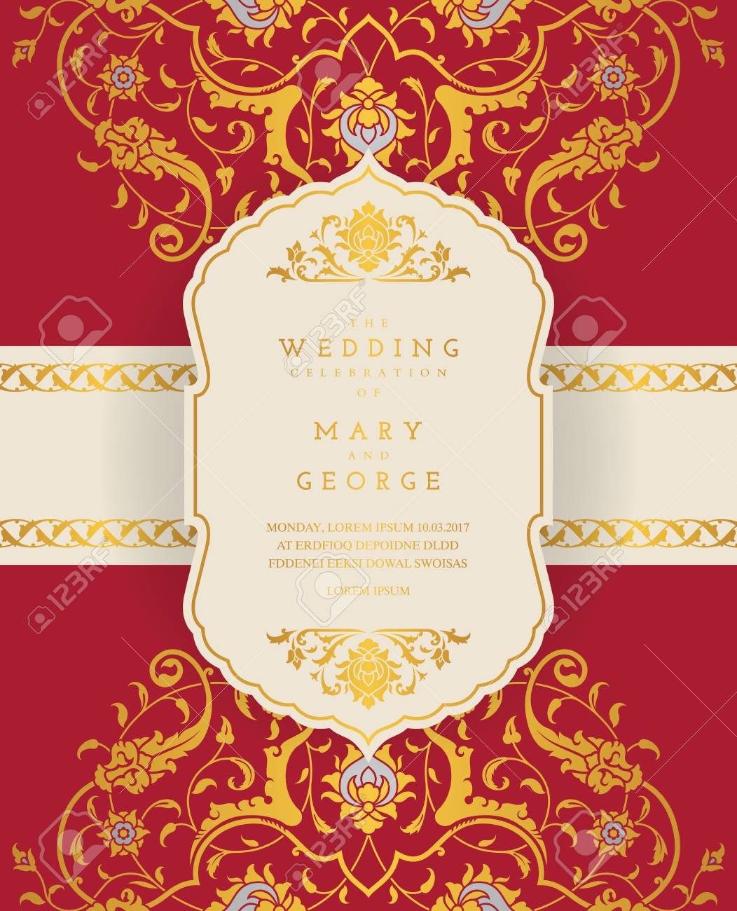 vintage wedding invitation card template with floral background royalty free cliparts vectors and stock illustration image 84288942