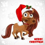 Cute Horse On Christmas Card Royalty Free Cliparts Vectors And Stock Illustration Image 22786873