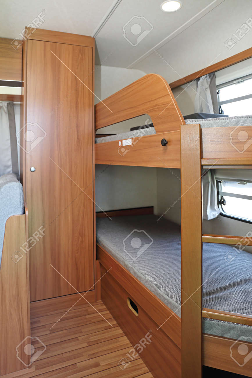 Bunk Bed And Closet In Camper Van Stock Photo Picture And Royalty Free Image Image 100869325