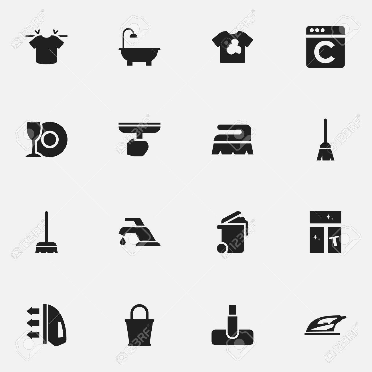 set of 16 editable dry cleaning icons includes symbols such royalty free cliparts vectors and stock illustration image 78290890