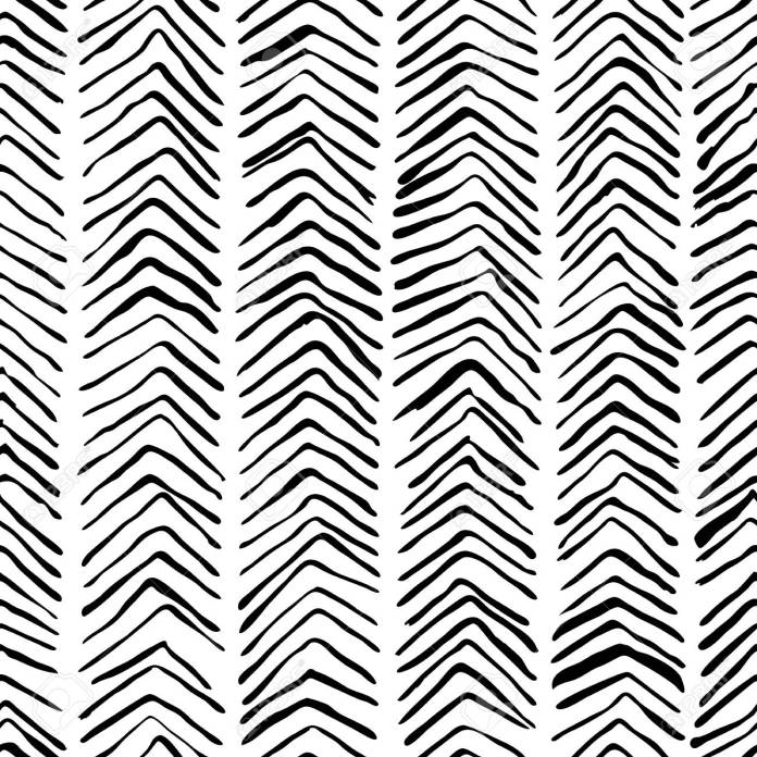 Vector Black White Hand Drawn Herringbone Seamless Pattern Abstract Royalty Free Cliparts Vectors And Stock Illustration Image 93523723