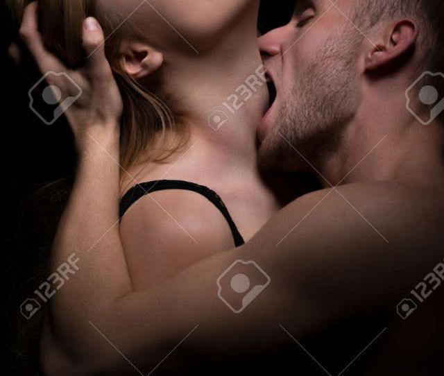 Hot Foreplay Passionate Man Biting Womans Neck Stock Photo 42076446