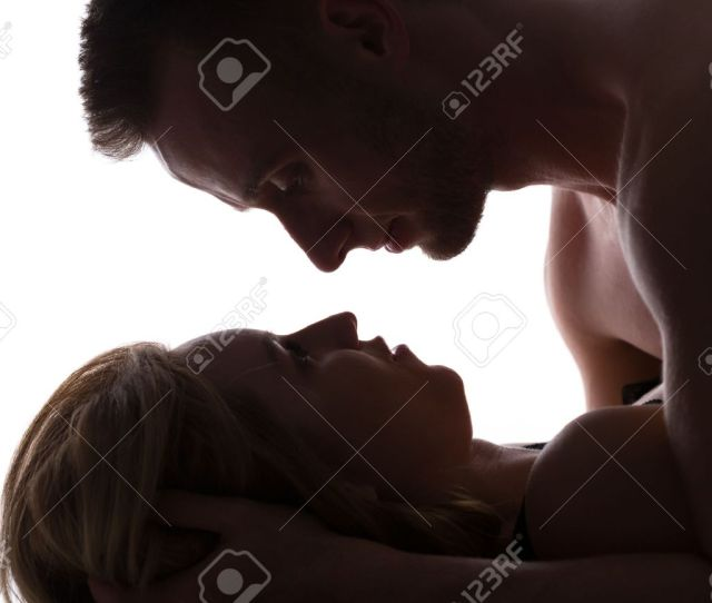 Erotic Couple In Bed Having Passionate Sex Stock Photo 44084644