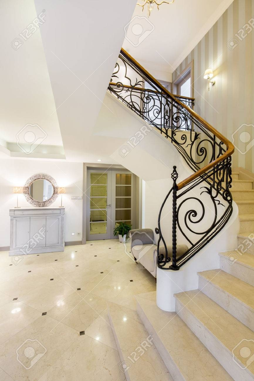 Very Spacious Hall And Staircase Of A Mansion With Marble Floor | Steps Design In Hall | Duplex House | Style Indian | Concept | Beautiful | Front Main Entrance