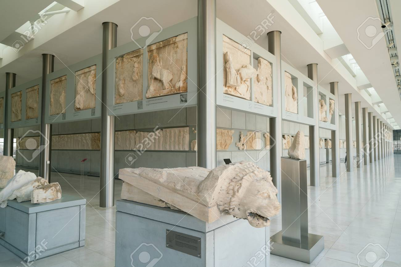 Athens  Greece   November 15  2017  Interior View Of The New   Stock     Athens  Greece   November 15  2017  Interior View of the New Acropolis  Museum