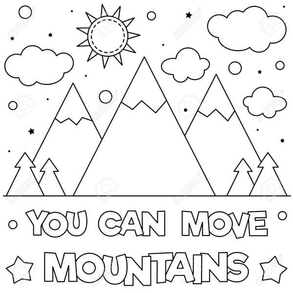 mountain coloring page # 10
