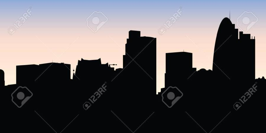 London Vector Download Free Art Stock Graphics Images City Outline Skyline All Buildings Customizable Objects So You Can Simple