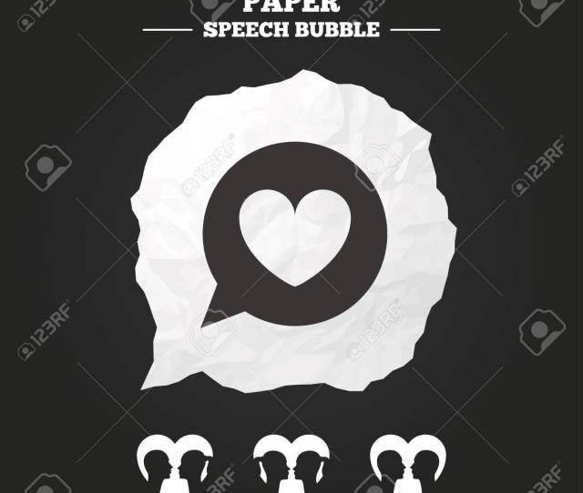Lesbian And Gay Lovers Signs Romantic Homosexual Relationships Speech Bubble