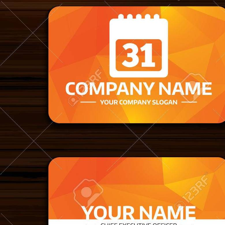 HD Decor Images » Business Or Visiting Card Template  Calendar Sign Icon  31 Day     Business or visiting card template  Calendar sign icon  31 day month  symbol  Date