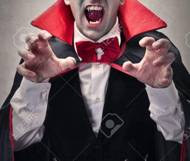 Dressed As Dracula Stock Photo 50740734