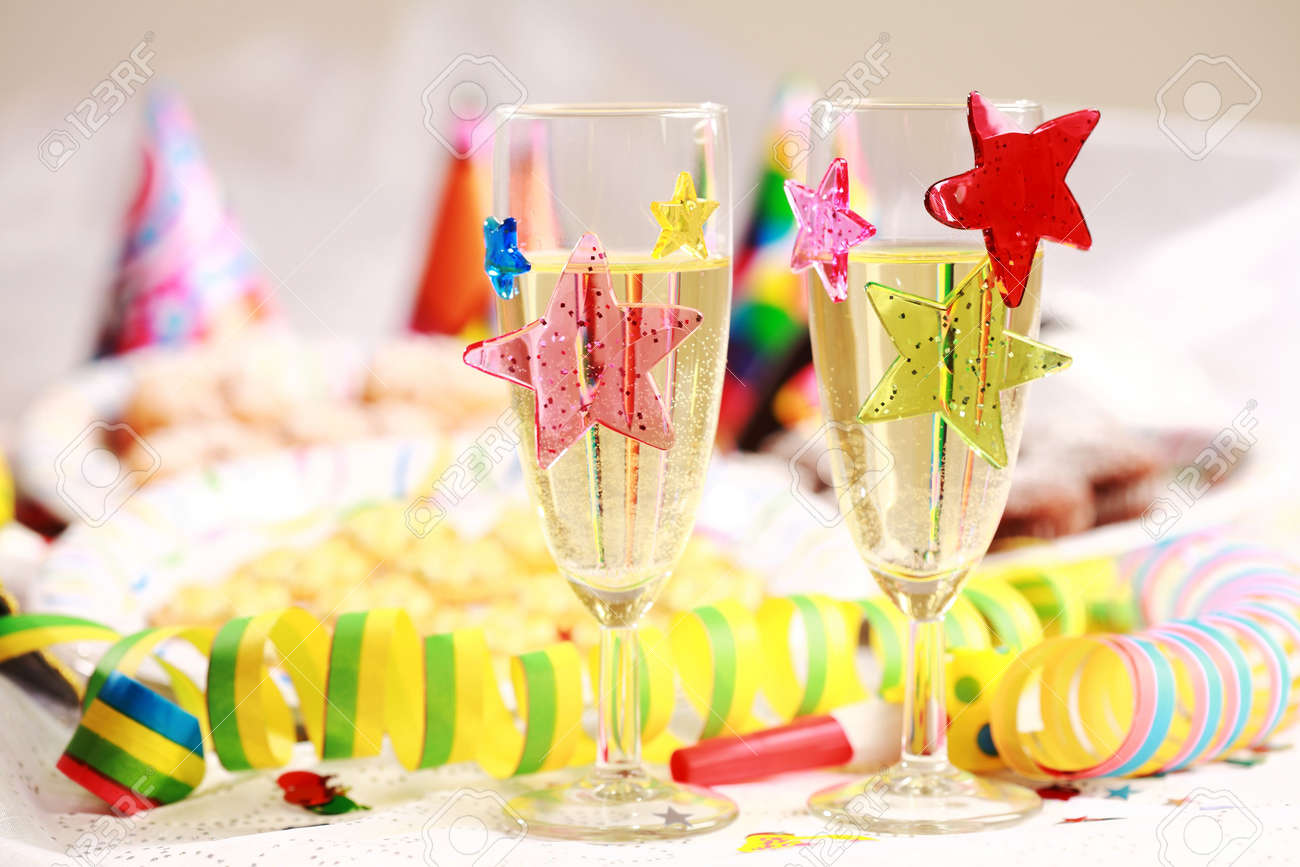 Party Accessories For New Year Eve  Birthday Party Or Carnival Stock     Party accessories for New Year Eve  birthday party or carnival Stock Photo    6143343