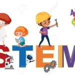 Stem Logo With Kids In Many Education Activities Isolated Illustration Royalty Free Cliparts Vectors And Stock Illustration Image 154030213